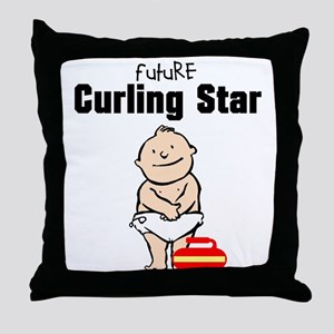 Future Curling Star Throw Pillow