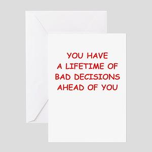 Bad karma greeting cards cafepress lifetime greeting cards m4hsunfo