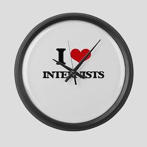 I Love Internists Large Wall Clock