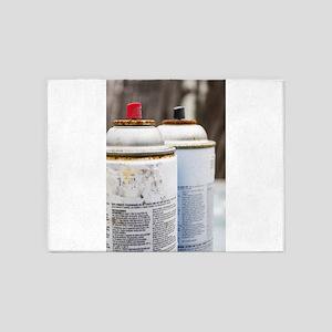 Spray Cans 5'x7'Area Rug