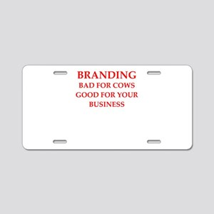 branding Aluminum License Plate