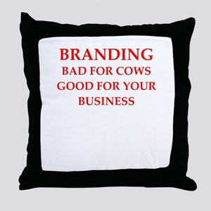 branding Throw Pillow