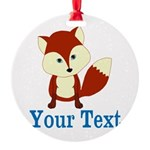 Personalizable Red Fox Ornament
