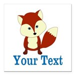 Personalizable Red Fox Square Car Magnet 3