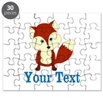 Personalizable Red Fox Puzzle