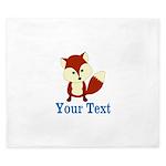 Personalizable Red Fox King Duvet