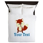 Personalizable Red Fox Queen Duvet