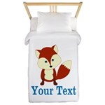 Personalizable Red Fox Twin Duvet