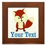Personalizable Red Fox Framed Tile