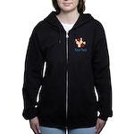 Personalizable Red Fox Women's Zip Hoodie