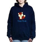 Personalizable Red Fox Women's Hooded Sweatshirt