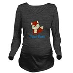 Personalizable Red Fox Long Sleeve Maternity T-Shi