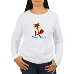 Personalizable Red Fox Long Sleeve T-Shirt