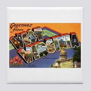 Greetings from West Virginia Tile Coaster