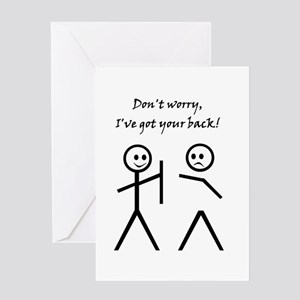Got your back greeting cards cafepress dont worry ive got your back greeting cards m4hsunfo