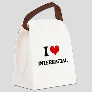 I Love Interracial Canvas Lunch Bag