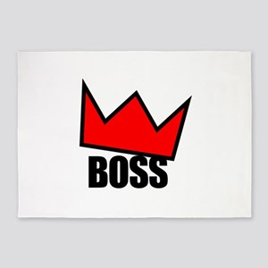 BOSS Red Crown 5'x7'Area Rug