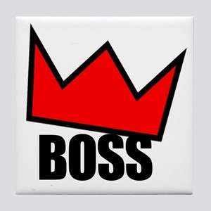 BOSS Red Crown Tile Coaster