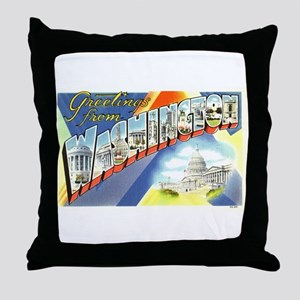 Greetings from Washington DC Throw Pillow