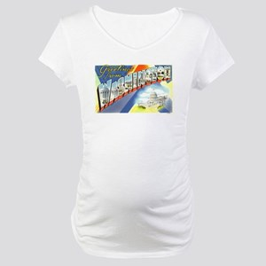Greetings from Washington DC Maternity T-Shirt