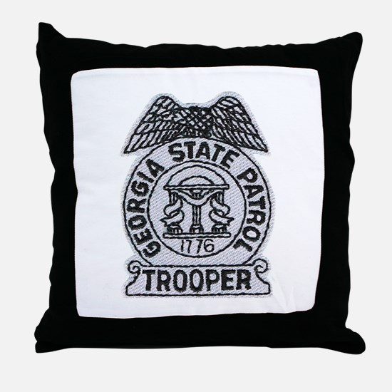 Georgia State Patrol Throw Pillow
