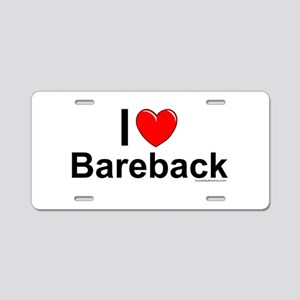 Bareback Aluminum License Plate