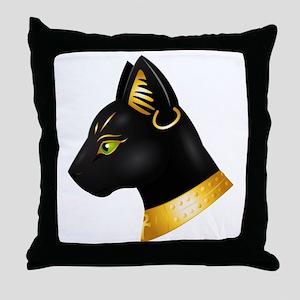 Bastet Throw Pillow