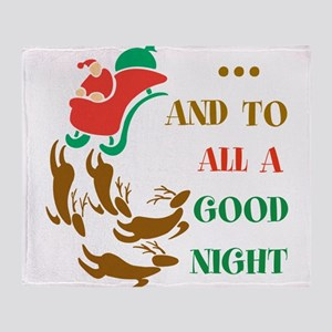 Good Night Throw Blanket