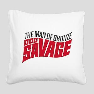 Doc Savage Square Canvas Pillow