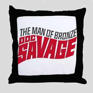 Doc Savage Throw Pillow
