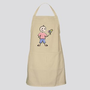 Boy with flowers Apron