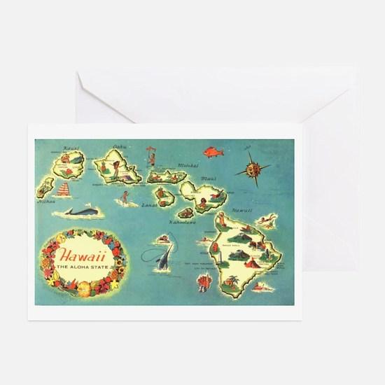 Hawaiian Islands Greeting Cards (Pk of 10)