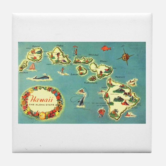 Hawaiian Islands Tile Coaster