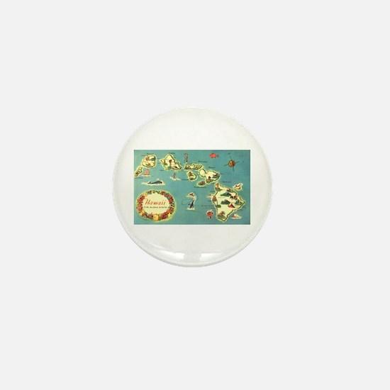 Hawaiian Islands Mini Button
