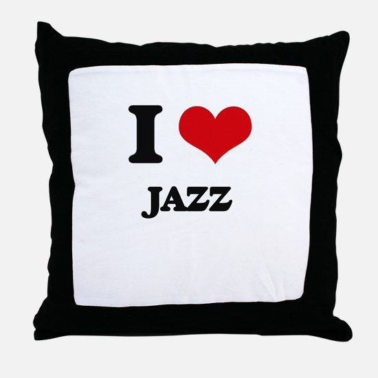 I Love Jazz Throw Pillow