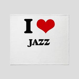 I Love Jazz Throw Blanket
