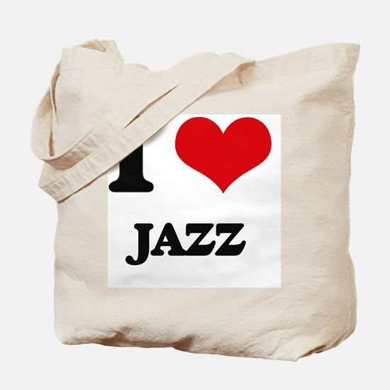 I Love Jazz Tote Bag