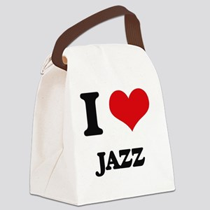 I Love Jazz Canvas Lunch Bag