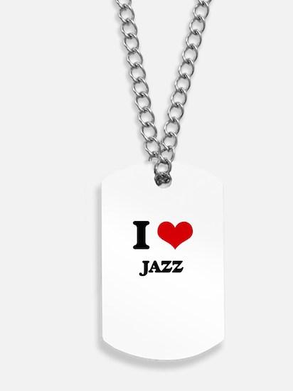 I Love Jazz Dog Tags