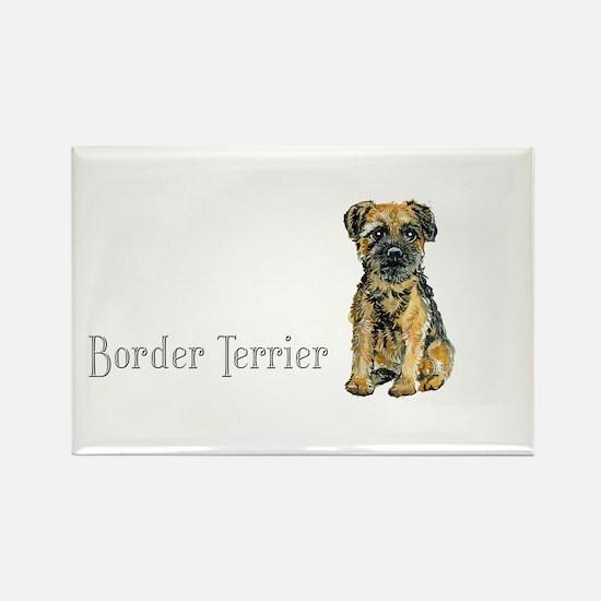 Border Terrier Rectangle Magnet