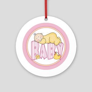 Sleepy Baby (pink) Ornament (Round)