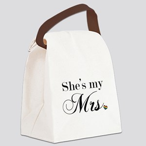 She's My Mrs. Canvas Lunch Bag