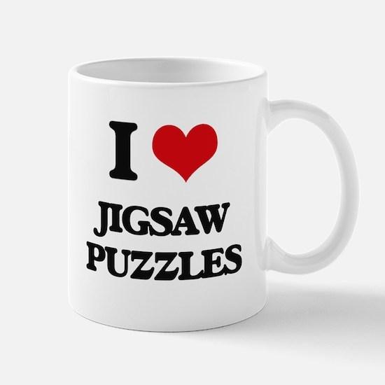 I Love Jigsaw Puzzles Mugs