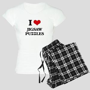 I Love Jigsaw Puzzles Women's Light Pajamas