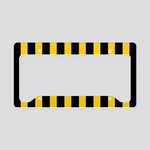 Black And Yellow Stripes License Plate Holder