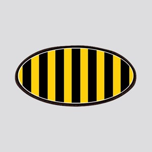 Black And Yellow Stripes Patches