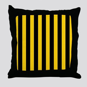 Black And Yellow Stripes Throw Pillow