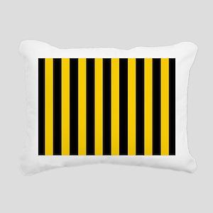 Black And Yellow Stripes Rectangular Canvas Pillow