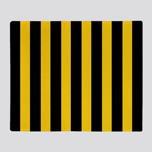Black And Yellow Stripes Throw Blanket
