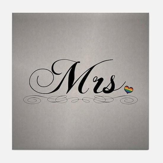 Mrs. Lesbian Design Tile Coaster